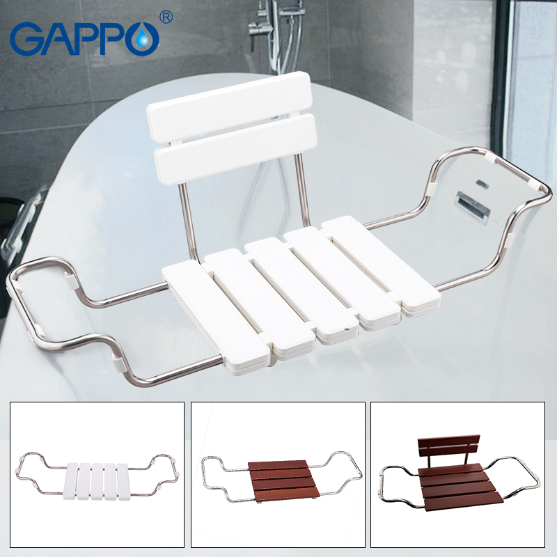 GAPPO Wall Mounted Shower Seats Bath bench shower folding chair Shower chairs bathroom tools