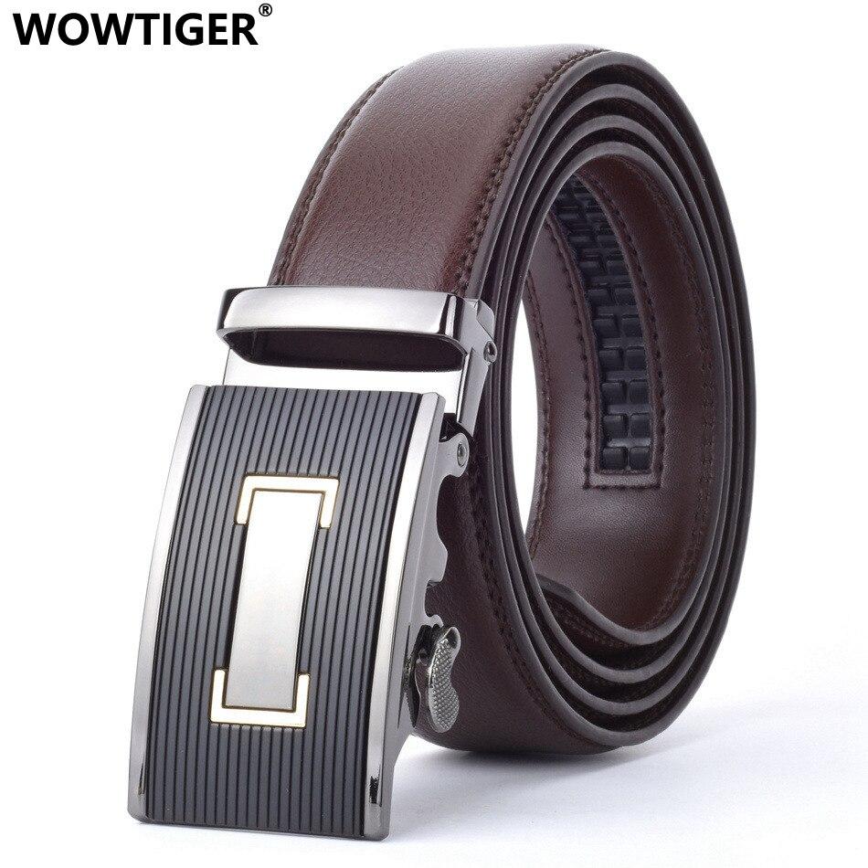 WOWTIGER Marque Ceinture En Cuir Hommes Mâle Véritable Bracelet De Luxe  Automatique designer ceinture homme cinto 1e3f1bbce8c