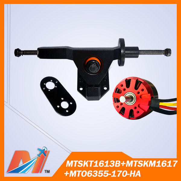 Maytech High precision gravity casting electric skateboard truck and 6355 dc motor Skateboard