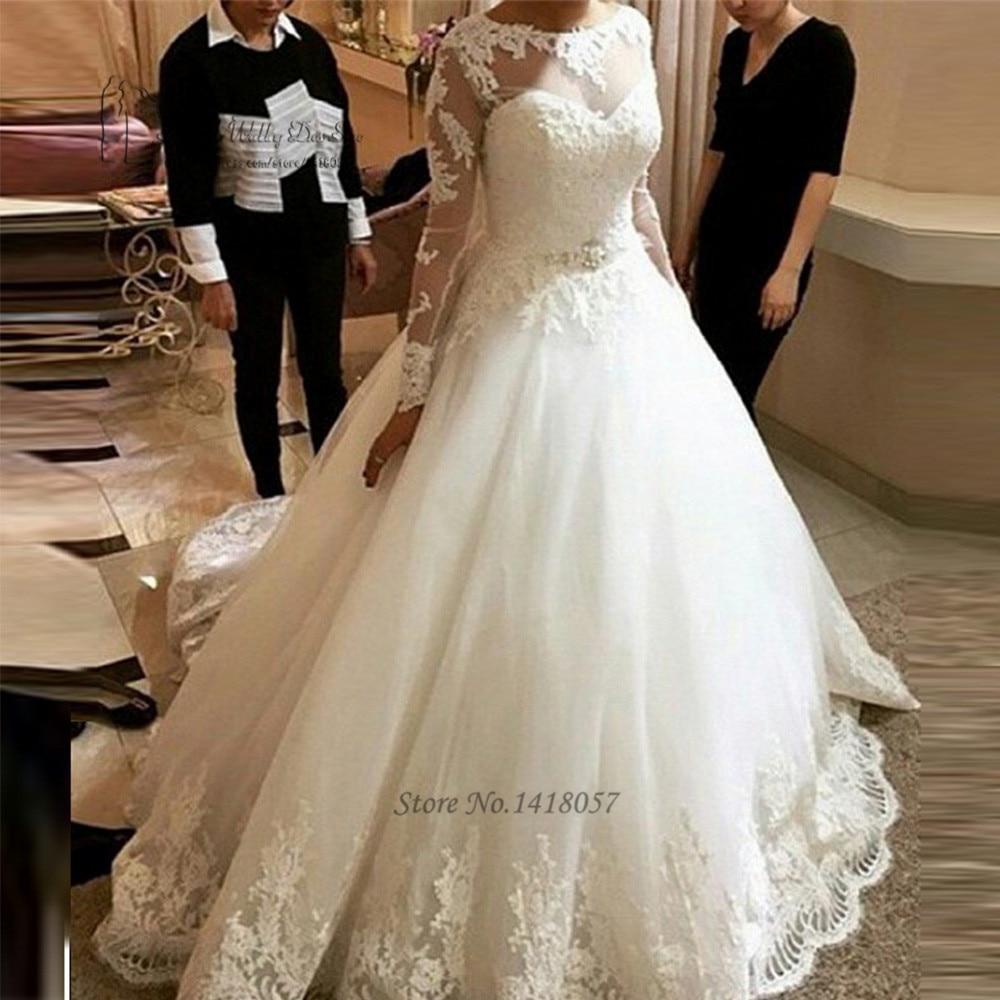 Vintage Wedding Dresses Michigan: Robe De Mariee Turkey Wedding Dress Long Sleeve Vintage