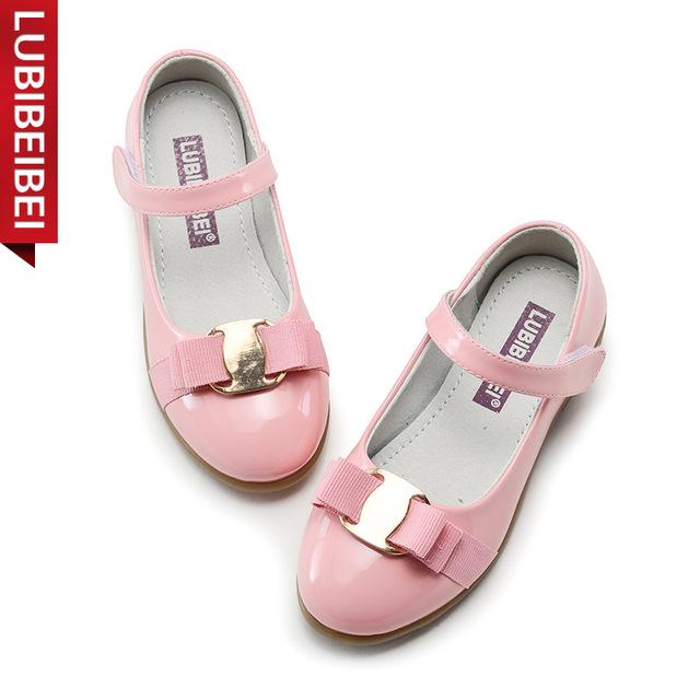 Novas Crianças sapatos Meninas princesa sapatos único laço de Fita