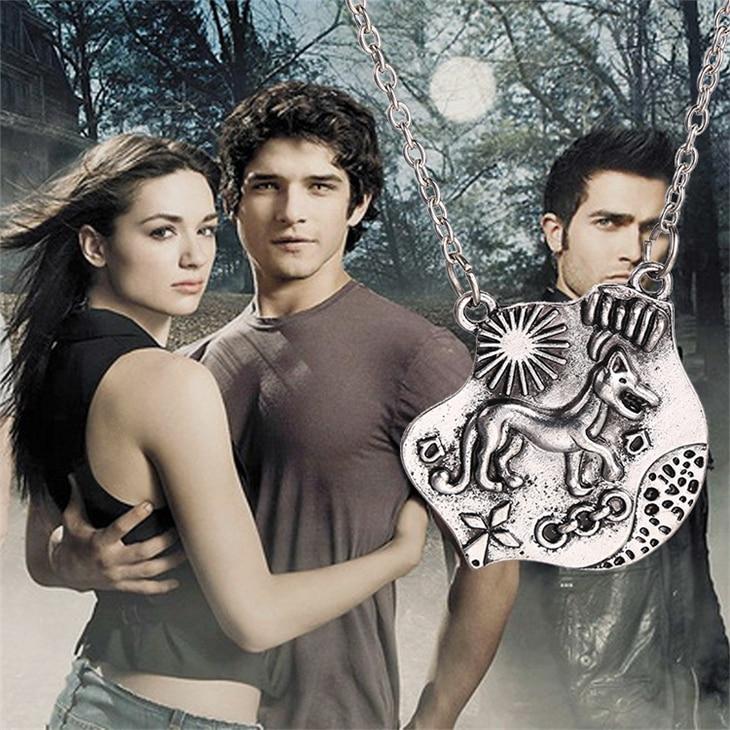 Ожерелье Teen Wolf Triskele Triskelion Allison, серебро, тотемная подвеска, винтажный цвет, античное серебро, новый фильм, ювелирные изделия для мужчин, оптов...