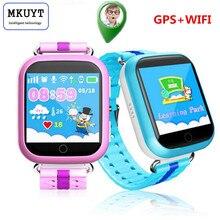 MKUYT Q750 Q100 Enfants GPS Montre Intelligente avec Wifi 1.54 pouces Tactile écran SOS Appel Dispositif de Localisation Tracker pour Kid Safe PKQ50 Q60 Q90