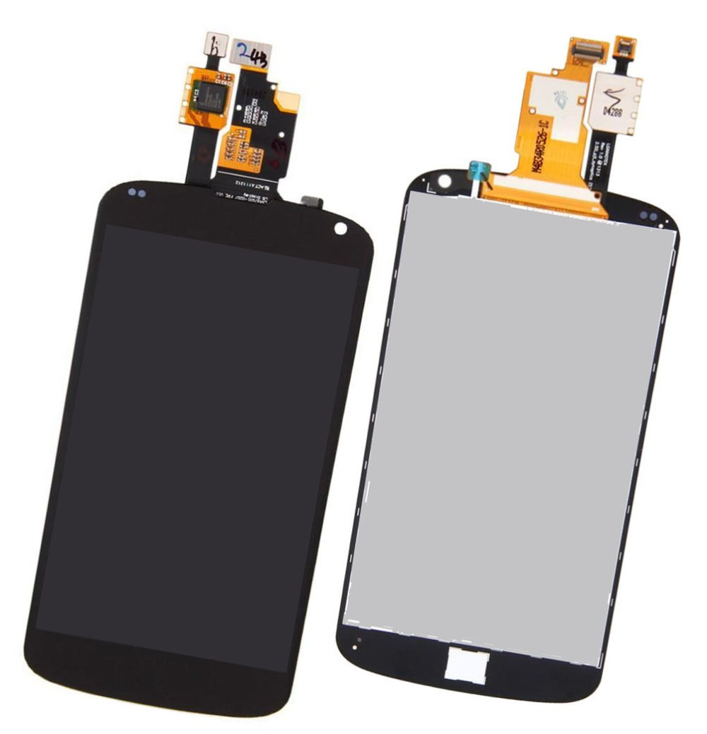 HK Post Free shipping ! Black For LG Google Nexus 4 Optimus E960 LCD Display + Touch Screen with Digitizer Assembly new lcd touch screen digitizer with frame assembly for lg google nexus 5 d820 d821 free shipping