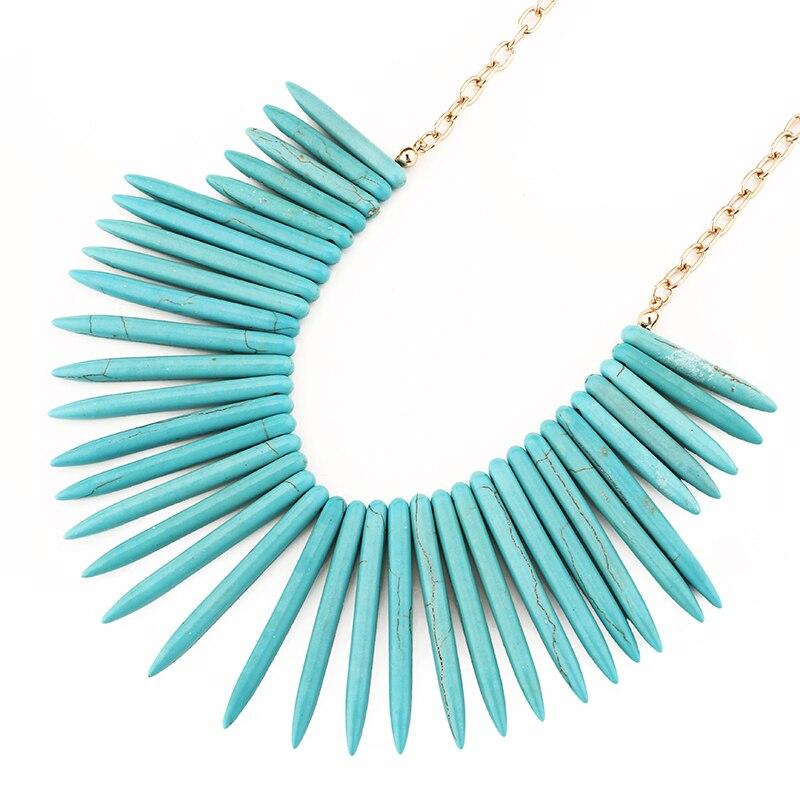 Bohême synthétique pierre pendentif choker collier pour les femmes déclaration pendentif chaîne collier choker mode bijoux colliers