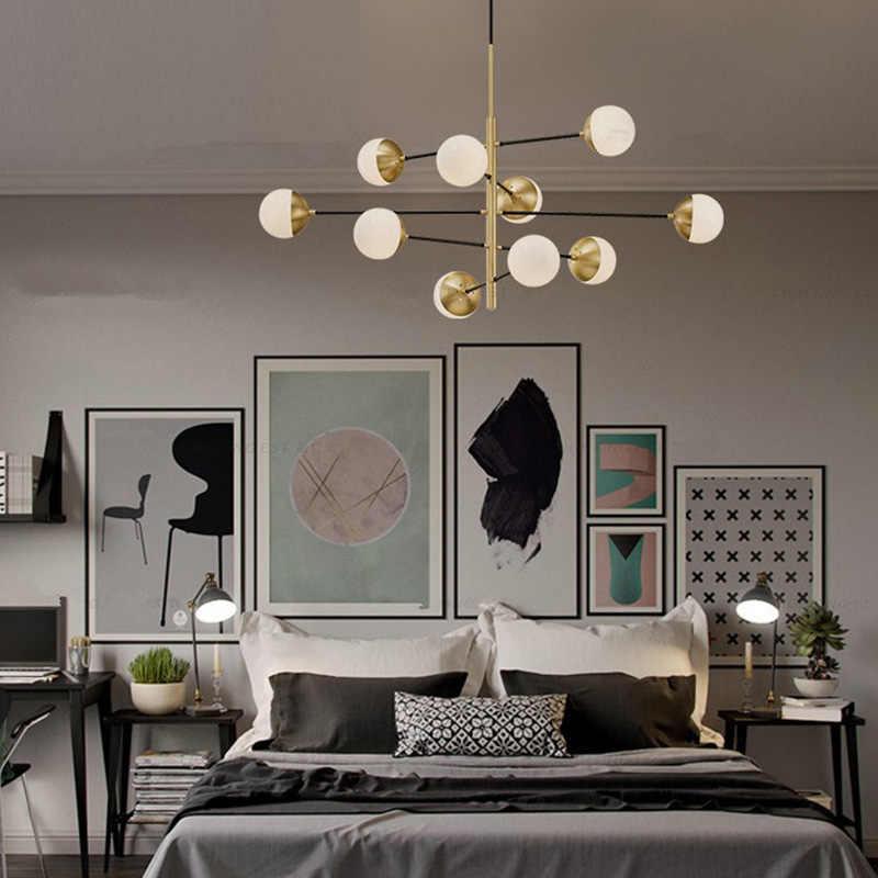 Современные легкие подвесные светильники дизайнерское освещение спальня лампа гостиная лампа столовая кованого железа подвесной светильник для кафе