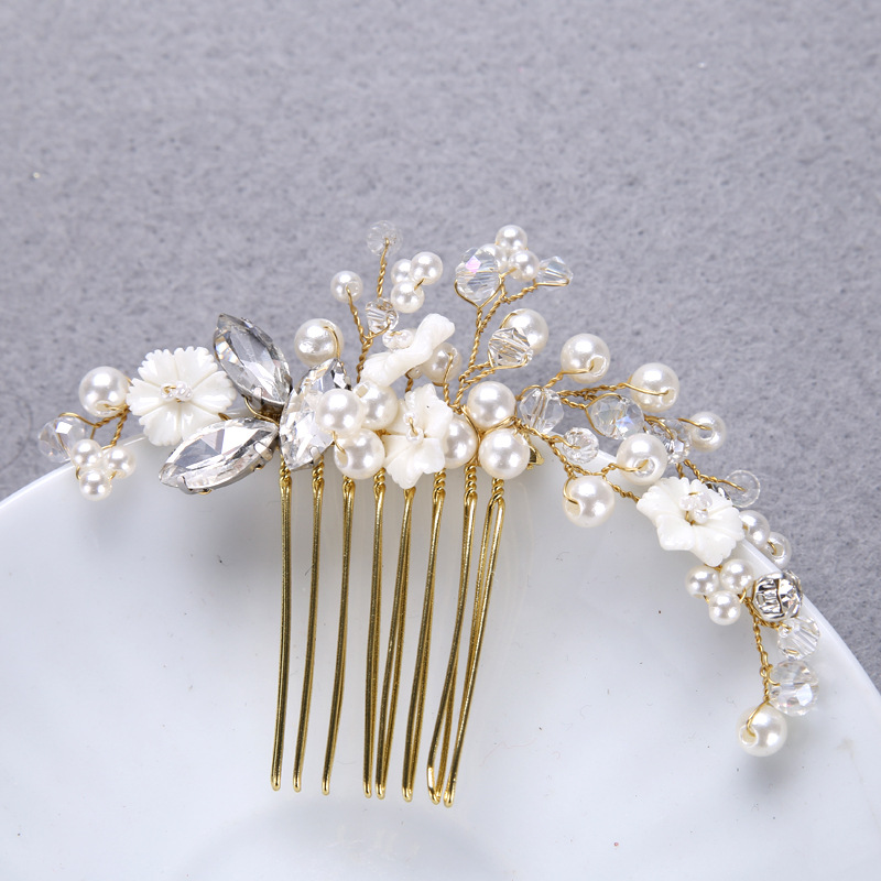 Online shop newest hair clips nature shell big rhinestone crystal online shop newest hair clips nature shell big rhinestone crystal pearl small white flower gold color wedding bridal clips for women party aliexpress mightylinksfo