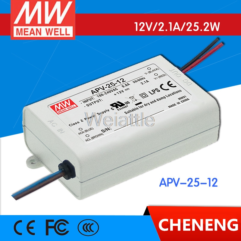 5V 12V 15V 24V 36V 0.7A 1A 2.1A 3.5A APV-25-24 MEAN WELL 25W AC-DC LED Lighting Drive Switching Power Supply Constant Voltage 5pcs muji style japanese zebra jj15 press pens milk color light color line drawing pen gel pen for student writing stationery