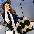 Новый Женский Мода Теплый Плед Шарф Женский Бахромой Шерстяные Кашемировые Шали 7 Цветов 758