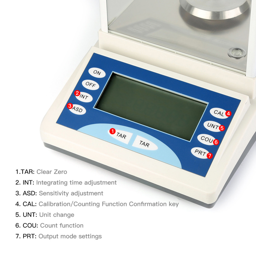 200g * 0.1 mg Balance d'analyse électronique LCD Balance d'analyse de poids Balance de bijoux numérique Balance expérimentale de poids numérique - 2