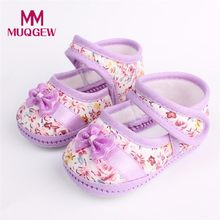 MUQGEW Baby Girl Shoes 2018 New Fashion Spring Autumn Soft Sole Bowknot Print Anti-slip Casual Shoes Toddler(China)
