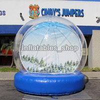 Free Shipping Free Pump Outdoor 3/4m Christmas Giant Inflatable Snow Globe Ball Inflatable Clear Bubble Ball For Advertising