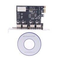 4 יציאת PCI E ל usb HUB 3.0 PCI Express הרחבת כרטיס מתאם 5 Gbps מהירות חדש במהירות גבוהה-בכרטיסים להוספה מתוך מחשב ומשרד באתר