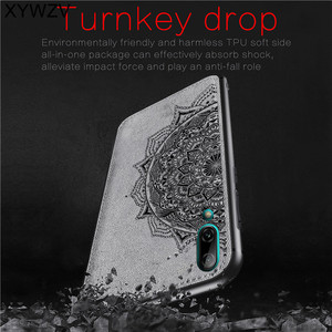 Image 2 - Huawei Y7 Pro 2019 Shockproof Soft TPU Silicone Cloth Texture Hard PC Phone Case For Huawei Y7 Pro 2019 Cover For Huawei Enjoy 9