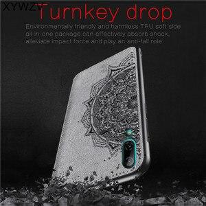 Image 2 - Huawei Y7 Pro 2019 odporne na wstrząsy miękka TPU silikonowa tkaniny tekstury twardy telefon etui na Huawei Y7 Pro 2019 pokrywa dla Huawei ciesz się 9