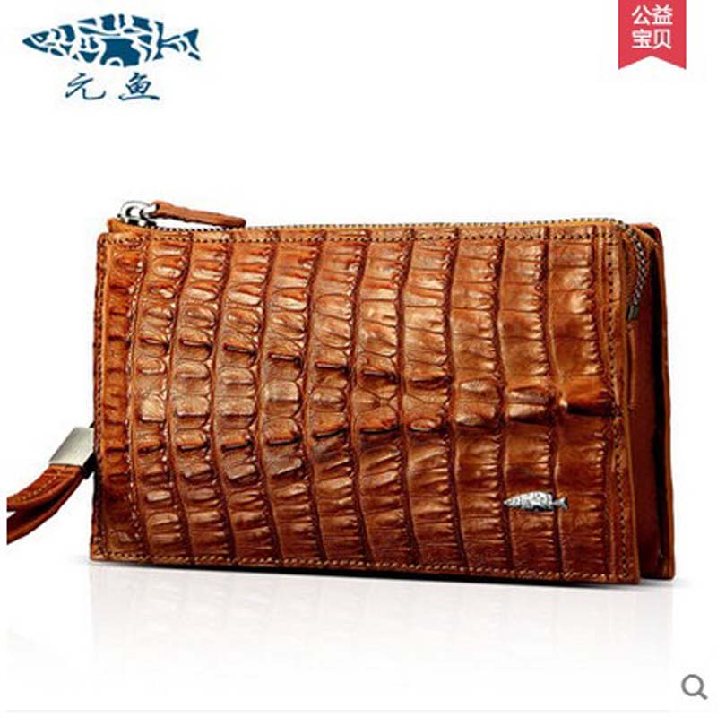 yuanyu 2018 new hot free shipping new female crocodile bag real  crocodile skin hand caught women long wallet zipper women bag yuanyu new crocodile wallet alligatorreal leather women bag real crocodile leather women purse women clutches