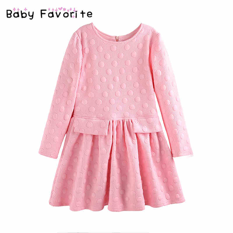 Baby Favorite New Year Dresses For Girls Long Sleeveless Winter Warm Soft Fashion Dress For School 12 Years Old Girls Clothing hello bobo girls dress collection of sports in the new year is suitable for 2 to 6 years old children s clothing