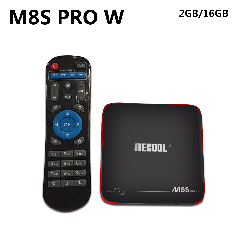 MECOOL M8S PRO W Android TV Box S905W CPU Android 7.1 2G 16G Support 2.4GHz WiFi 4K H.265