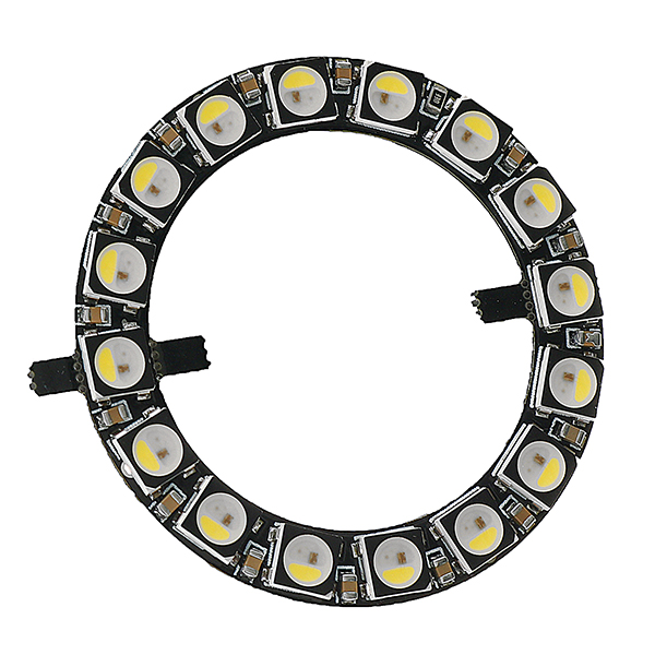 Ring 5V 16* 5050 RGB LED With Integrated Drivers Module for Arduino LED Lighting Strip 5pcs lot intersil isl8121irz isl8121qfn 3v to 20v two phase buck pwm controller with integrated 4a mosfet drivers