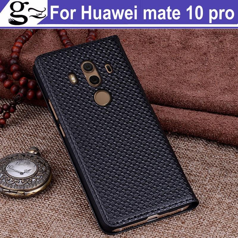 Housse en cuir véritable pour Huawei mate 10 Pro housse arrière pour Huawei mate10 pro BLA-AL00 coque arrière en cuir