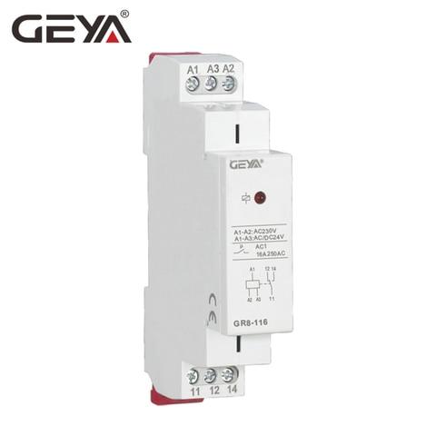 geya gr8 trilho din 12 v rele auxiliar de controle industrial mini rele intermediario ac