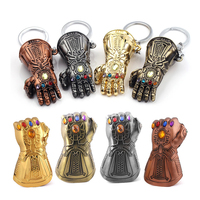 Wholesale 10pcs The Avengers Thanos Infinity Gauntlet Metal Keychain For Men Beer Bottle Opene Tools Car Key chain Accessories