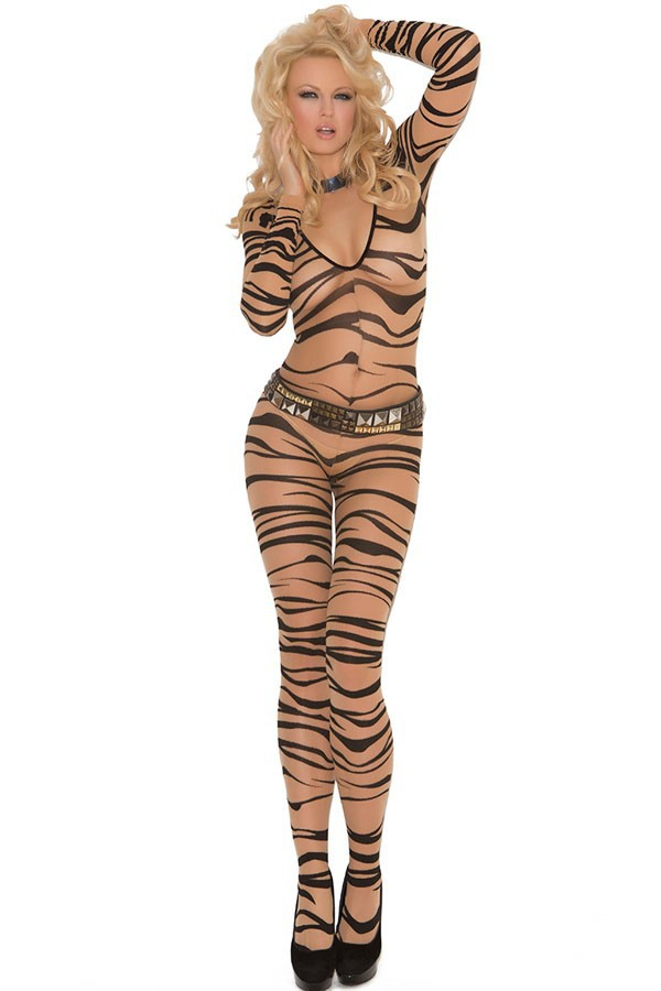Fashion 17 New Sexy Nightgown Autumn Women Stockings Sexy Fresh Zebra Print Sleepwear Body Stockings LC79590 1