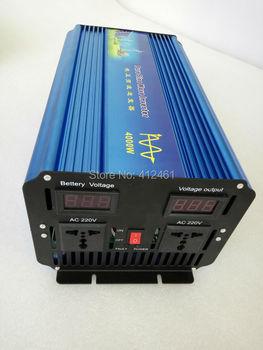Power Inverter 4000W Pure Sine Wave Inverter 12V DC to 220V AC Solar/Wind/Car/Gas Power Converter
