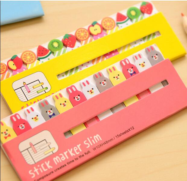 1pcs/lot  Number Animal Series Sticky Notes Stick Marker Post Notepad Memo Zakka Stationery Office School Supplies Fashion Gift