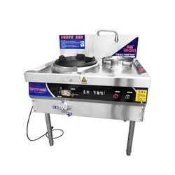 Ze stali nierdzewnej kuchenka gazowa jednopalnikowa kuchenka gazowa handlowych elektroniczny zapłon gazu kuchenka LC CL01|Okapy|AGD -