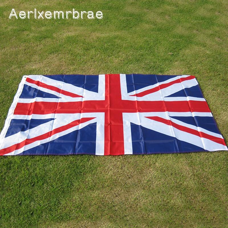 Free Shipping  Aerlxemrbrae    Flag Great   British  Banner Flag 5*3FT  90*150cm  United Kingdom National Polyster Uk  Flag