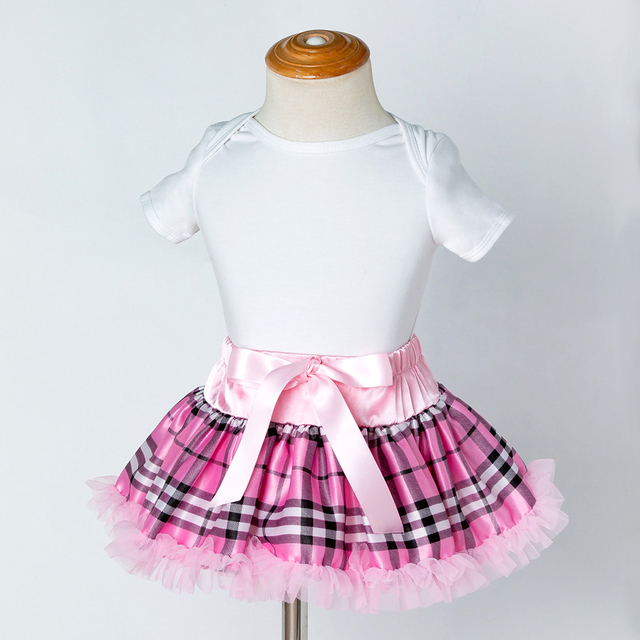 78b20244e Cute Baby Tutu Skirt Girls Lace Ruffle Bow Skirts Kids Chiffon ...