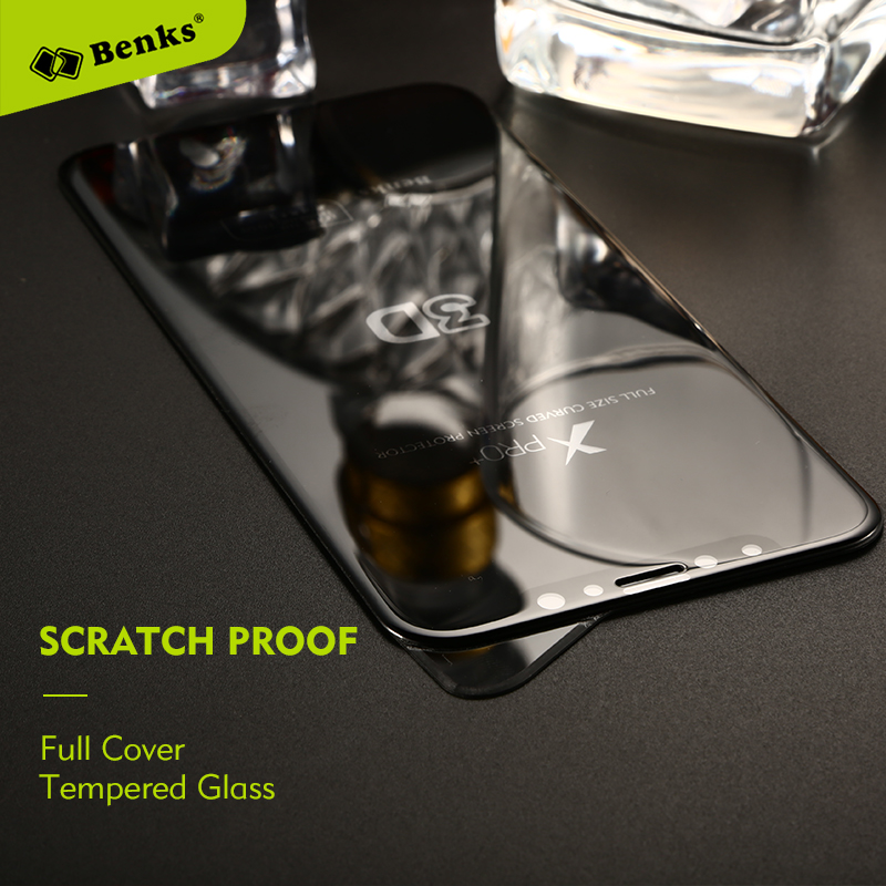 Benks Glass For <font><b>iPhone</b></font> X Tempered Glass Screen Protector Scratch Proof 3D Curved Protective Glass For iPhoneX 8 7 Plus Film
