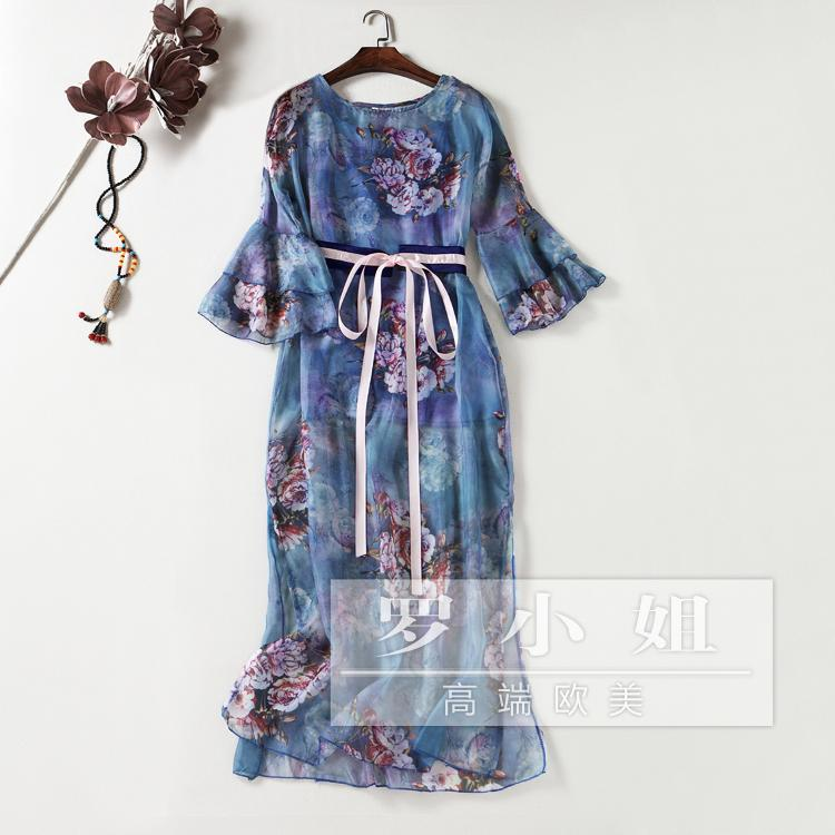 Голубое платье японская и корейская мода