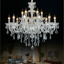 Clear crystal chandelier home decoration lighting lustres de cristal lamparas 100% quality guarantees and free shipping