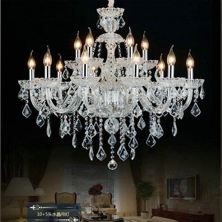 Lustre en cristal clair décoration de la maison éclairage lustres de cristal lampara 100% garanties de qualité et livraison gratuite