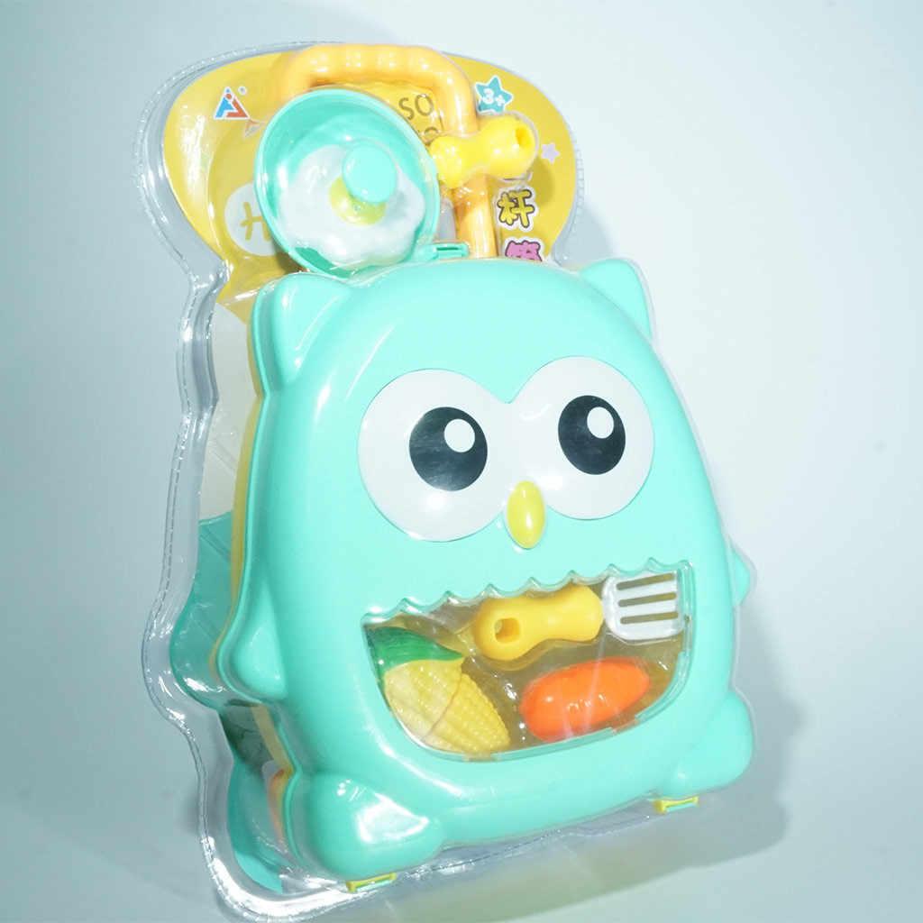 รถเข็นรูปร่างเด็ก Mini ชุดช้อนส้อมอุปกรณ์กระเป๋าเดินทางชุดของเล่น Early Education ของเล่นของขวัญ