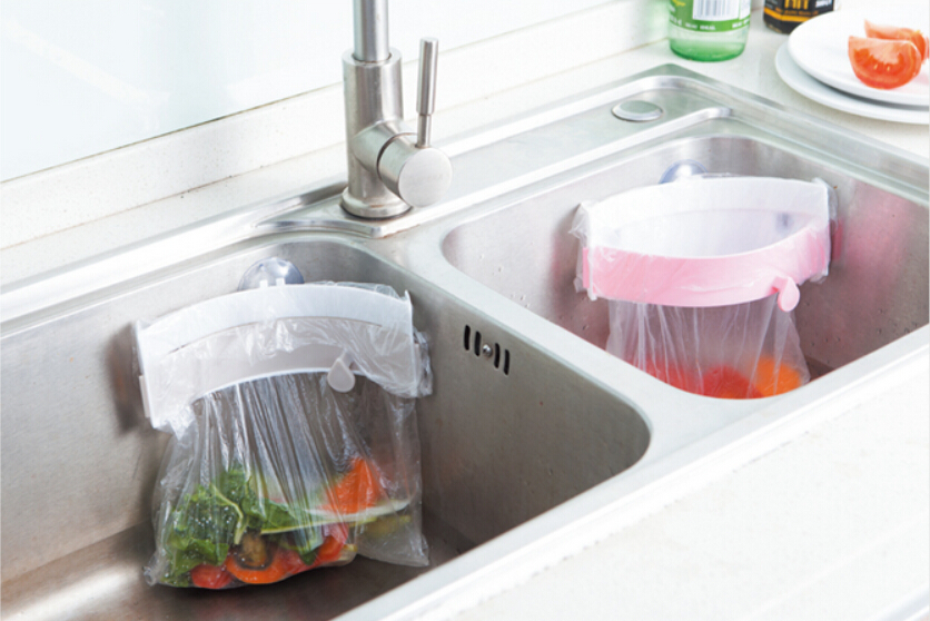 Kitchen Waste Basket Holder: Aliexpress.com : Buy Kitchen Sink Garbage Bag Clip Trash