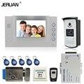 JERUAN 7`` LCD Screen video doorphone Record intercom system kit IR Night 700TVL RFID Access Camera 8GB SD FREE SHIPPING