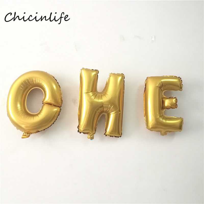 3pcs Lot 16inch ONELetters Foil Balloon Baby Shower Decoration Kids 1st Birthday