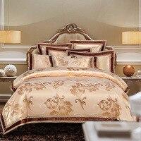 New Arrival Queen King size Satin Jacquard Duvet cover set Luxury Wedding Bedding set Bed sheet set Pillowcases38