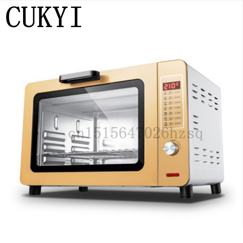 CUKYI Multi-functional Electric household Baking Oven 1500W big power 30L capacity use for making bread, cake, pizza cukyi household electric multi function cooker 220v stainless steel colorful stew cook steam machine 5 in 1