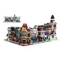 6 в 1 Городской мини уличный магазин серии кино Pet Shop ратуша банк модель строительный блок игрушки для детей подарки на день рождения Legoingly