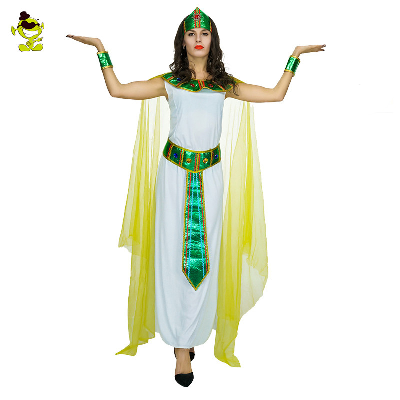 Adult's Women Green Cleopatra Costume Girls Egyptian  Pharaoh Princess Queen Fancy Dress For Masquerade Party  Cosplay Costumes