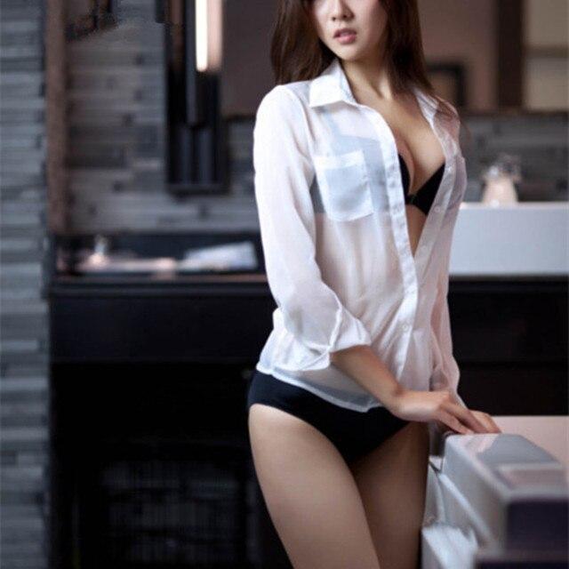 Sexy girls in white shirts