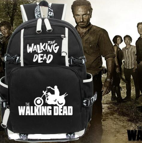 Men The Walking Dead Who will Fire Wing Backpack Bag Student School Printing Bag Casual Bag Cosplay Gift худи print bar the walking dead
