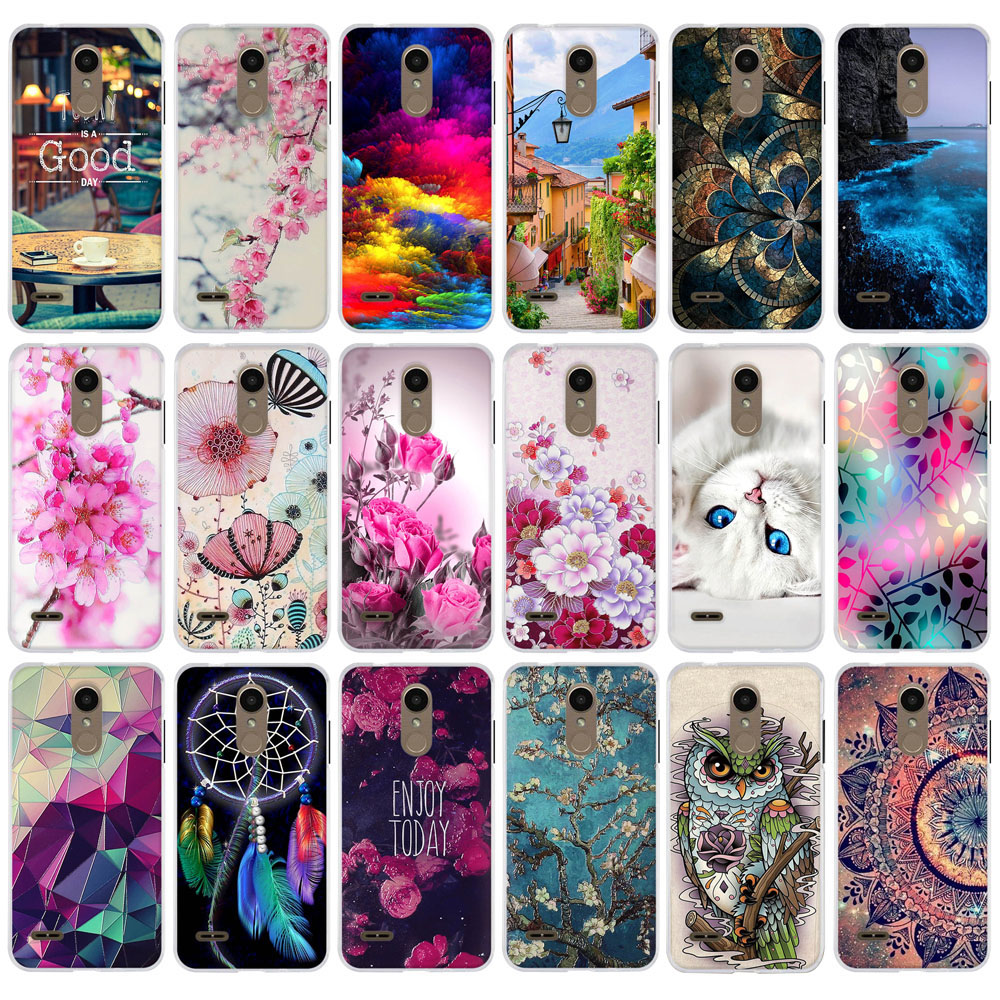 Case For Coque LG K8 2018 / K9 Cover 5.0 Inch Soft Silicon Back Cover For Fundas LG K8 2018 Thin TPU Cover For LG K9 Phone Cases
