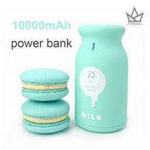 Cute Milk bottle Portable Power Bank 10000mAh Universal 18650 Battery Charger Birthday Gift For Mobile Phones For iphone ipad