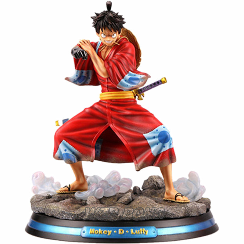 2019 New One Piece Monkey D Luffy Kimono Battle Form Statue
