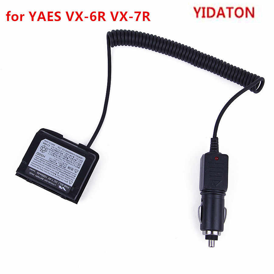 YIDATON for YAESU VX-7R 12V Car Battery Charger Eliminator Adaptor Walkie Talkie VX-6R With Waterproof Ring Battery Eliminator